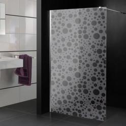 Stickers paroi de douche dépoli ronds