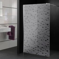 Stickers paroi de douche dépoli ronds design
