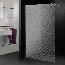 Stickers paroi de douche dépoli texture