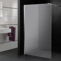 Stickers paroi de douche dépoli triangles