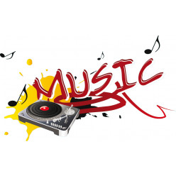 Stickers platine music
