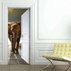 Stickers Porte Elephant