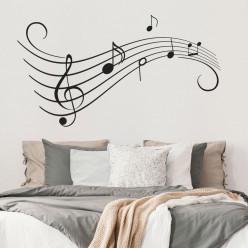 Stickers portée musicale