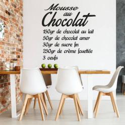 Stickers Recette Mousse au Chocolat