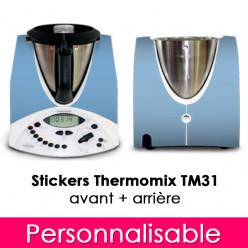 Stickers Thermomix TM 31 Personnalisable Avant et Arrière