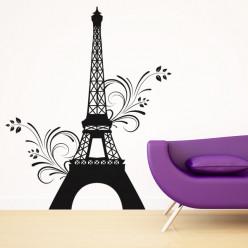 Stickers Tour Eiffel Fleur