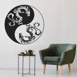 Stickers ying yang dragon