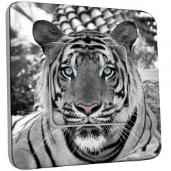 Interrupteur D�cor� Simple Va et Vient - Tigre Black&White