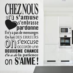 Stickers Chez nous