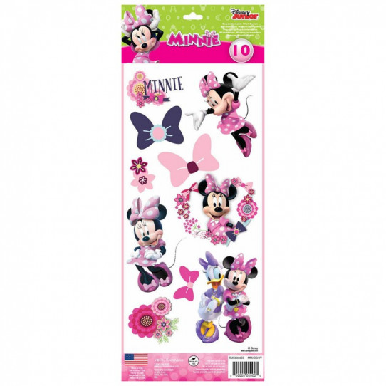 10 Stickers Disney Minnie Mousse