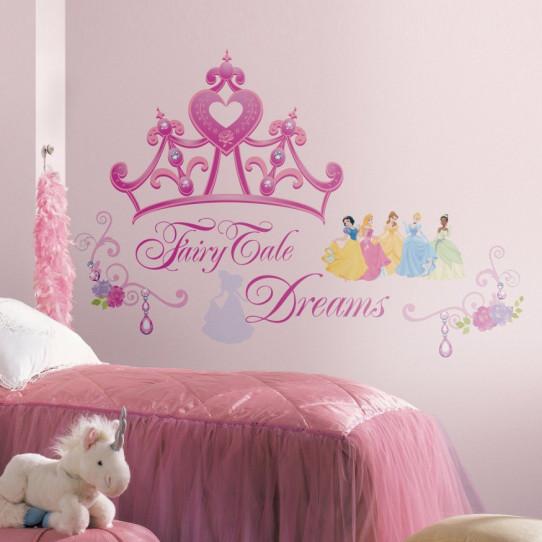 18 Stickers Diadème de Princesse Disney