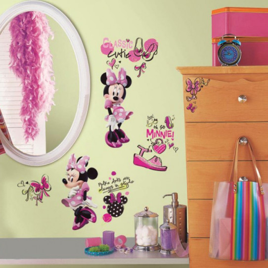 19 Stickers Fashionista Minnie Mouse Disney