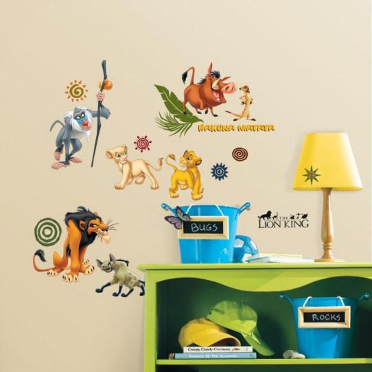 48 Stickers Le Roi Lion Disney