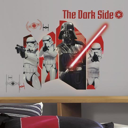 Stickers géant Star Wars Coté Obscur