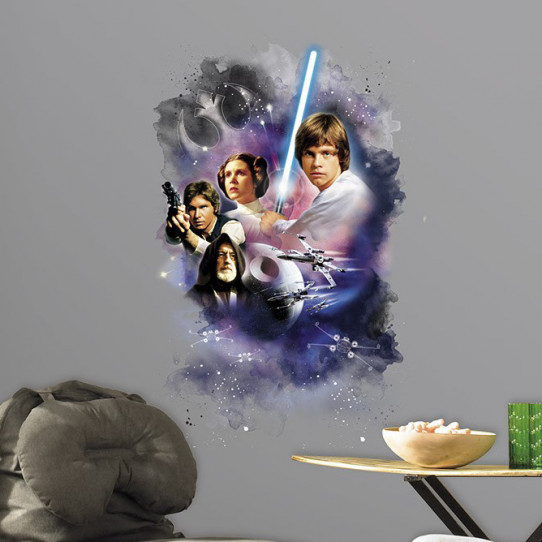 Stickers géant Star Wars Force