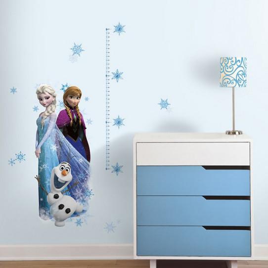 Stickers géant Toise La Reine des Neiges Disney