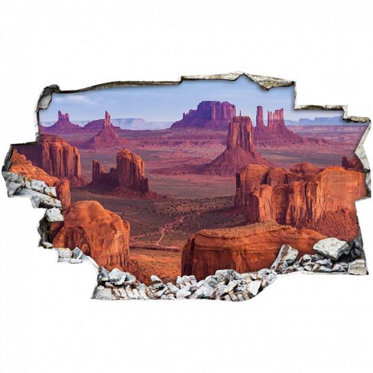 Stickers Trompe l'oeil 3D - Canyon 2