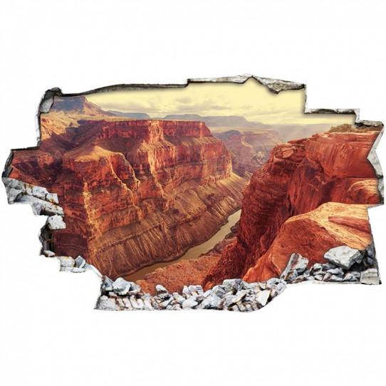 Stickers Trompe l'oeil 3D - Canyon