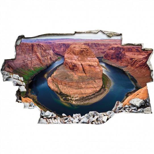 Stickers Trompe l'oeil 3D - Canyon 3