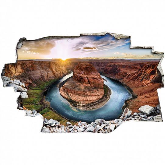 Stickers Trompe l'oeil 3D - Canyon 5