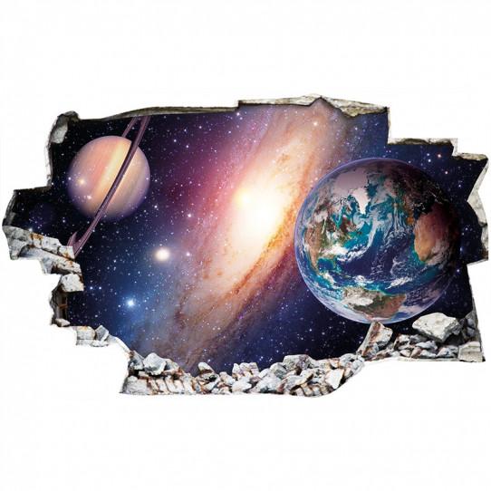 Stickers Trompe l'oeil 3D - Espace 3
