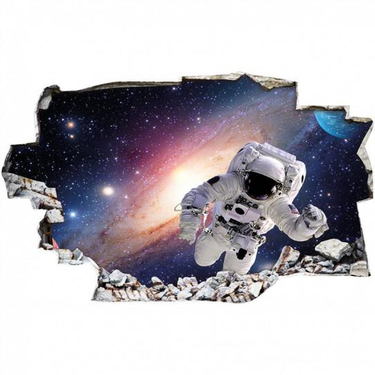 Stickers Trompe l'oeil 3D - Espace 5