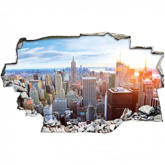 Stickers Trompe l'oeil 3D - New york
