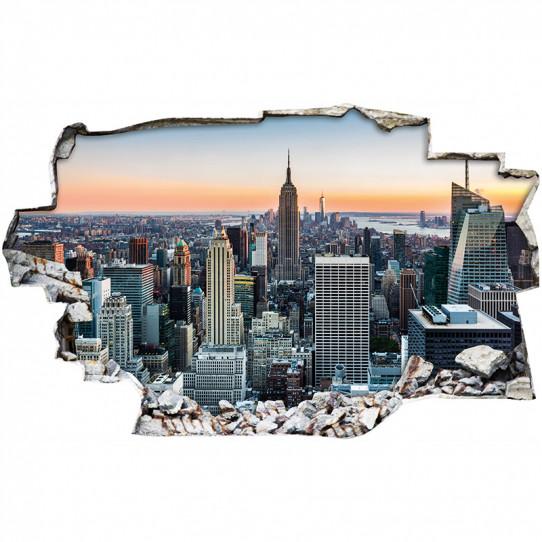 Stickers Trompe l'oeil 3D - New york 3