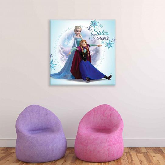 Tableau 80x80 cm La reine des neiges