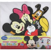 Stickers Mickey Minnie & Pluto 3D Relief Mousse Disney