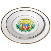 Assiettes blanches liseret or 20 cm de diamètre