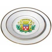 Assiettes blanches liseret or 25cm de diamètre