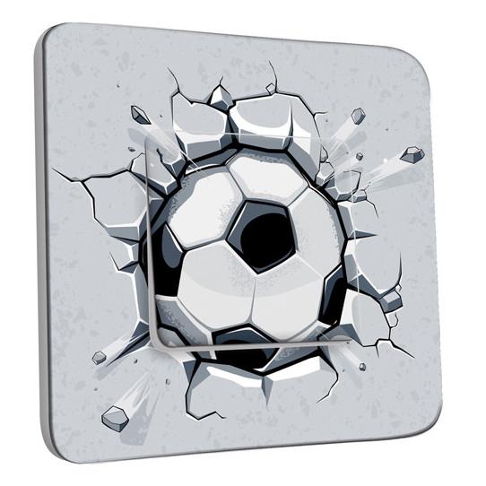 Interrupteur Décoré Simple Ballon de foot Black&White 3