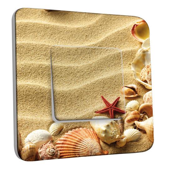 Interrupteur Décoré Simple Coquillages Etoile de mer 13