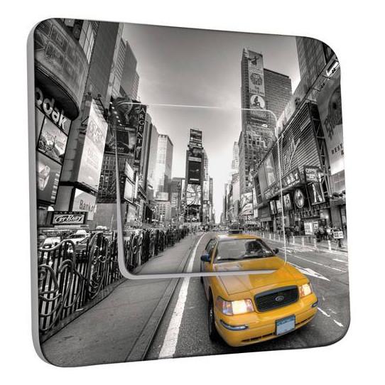 Interrupteur Décoré Simple  New York Taxi 01