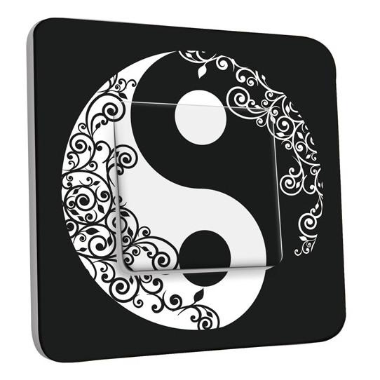 Interrupteur Décoré Simple Ying et Yang 1