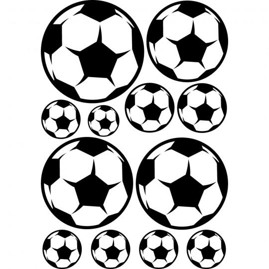 Kit 12 stickers ballon foot