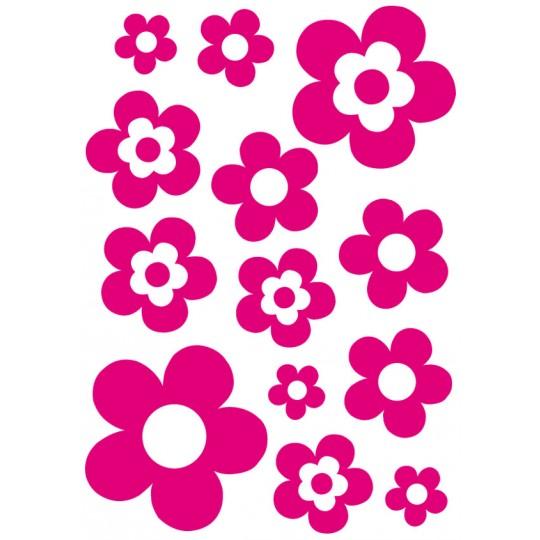 Kit 13 Stickers Fleur