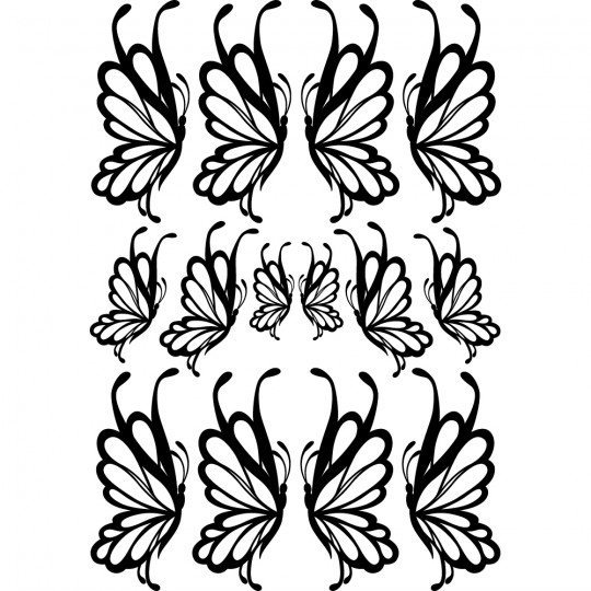 Kit 14 stickers papillon