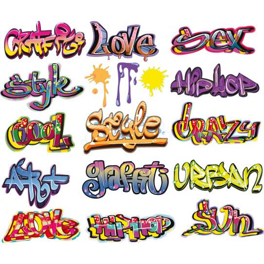 Autocollant Stickers ado kit 15 graffitis