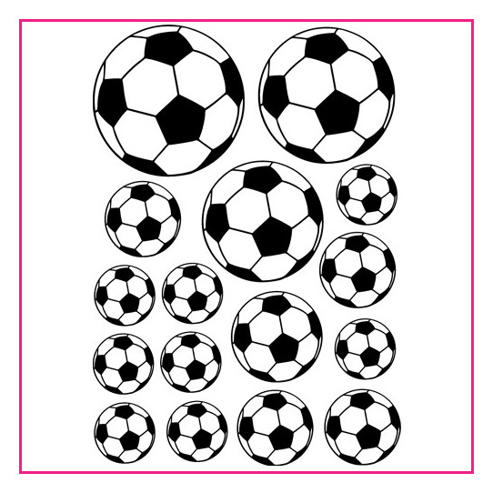 Kit 16 Stickers Ballon de foot