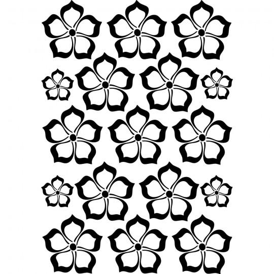 kit 17 stickers fleur