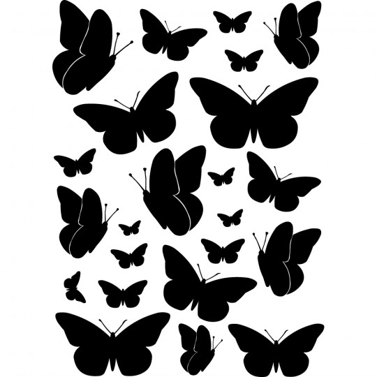 Kit 23 stickers papillons