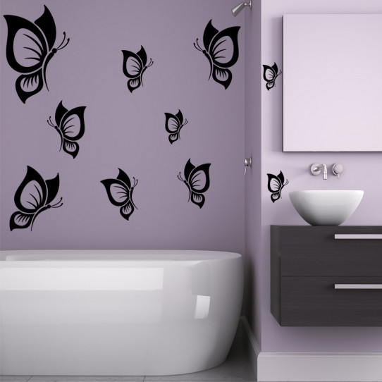 Kit 25 stickers papillon
