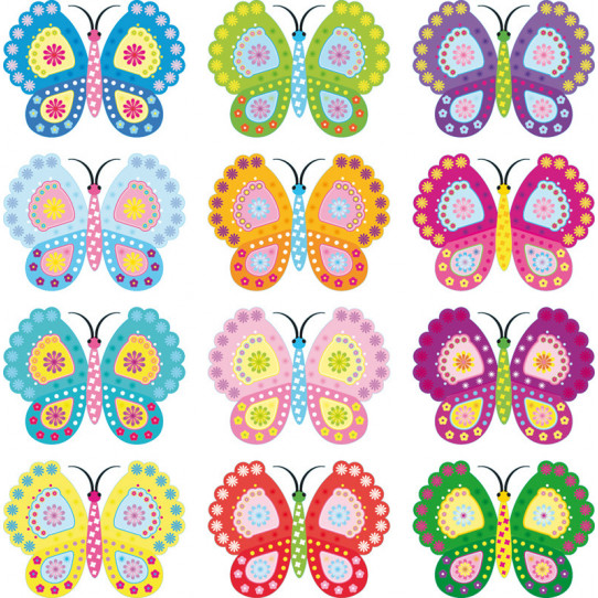 Autocollant Kit stickers 12 papillons