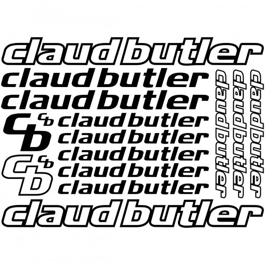 Kit stickers vélo claud butler bikes
