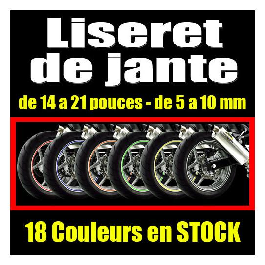 liseret de jante moto - autocollant sticker adhesif moto casque quad cross