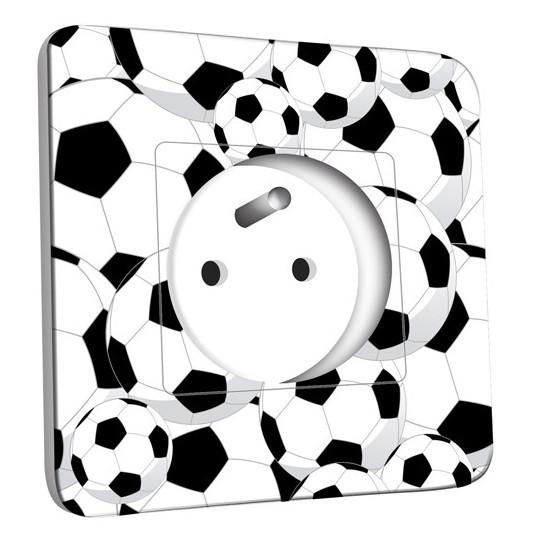 Prise décorée  Foot Black&White Design