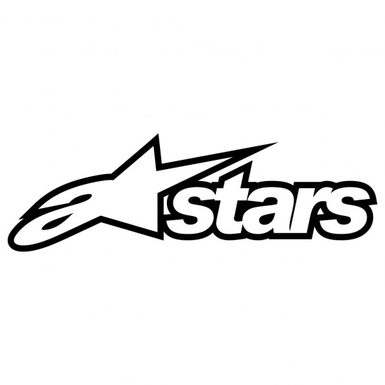 Stickers a stars alpinestars - autocollant sticker adhesif moto casque quad cross