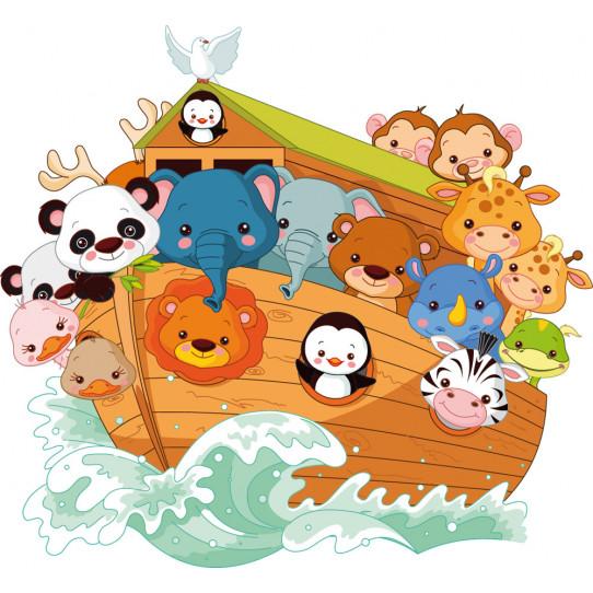 Autocollant Stickers animaux bateau